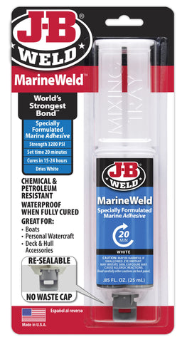 JB Weld MarineWeld High Strength Waterproof Adhesive Glue Syringe 50172