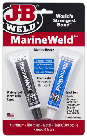 JB Weld Marine Weld 2 Part Epoxy Putty MarineWeld Waterproof Adhesive 8272