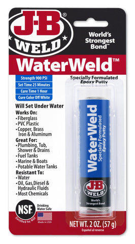 JB Weld WaterWeld Epoxy Putty Stick Underwater Weld Adhesive 8277