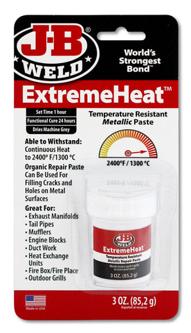 JB Weld ExtremeHeat Temperature Resistant Metallic Paste  37901