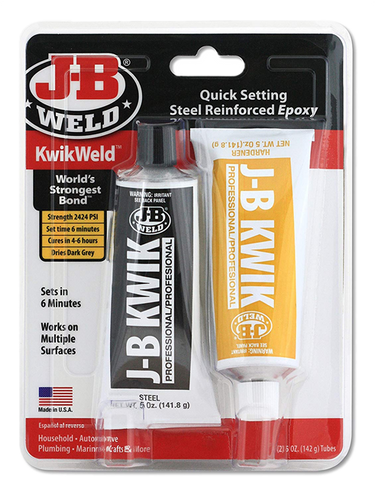 JB Kwik Weld Quick Setting Cold Weld Steel Reinfoced Epoxy Glue Professional 8271