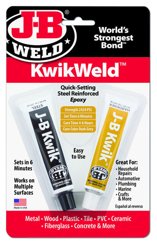 JB Weld KwikWeld Quick Setting Cold Weld Steel Reinforced Epoxy 8276