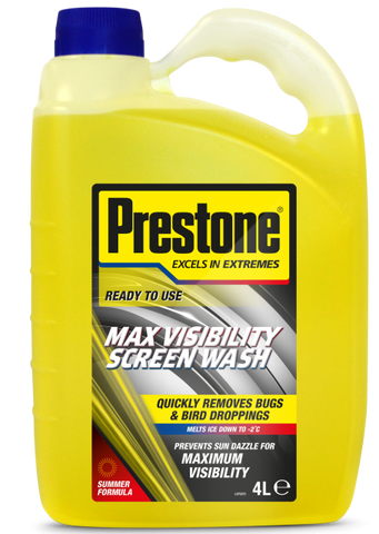 Prestone Max Visibility Ready To Use Screenwash