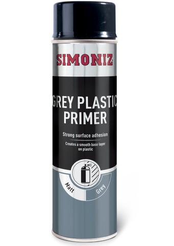 Simoniz Grey Plastic Primer Acrylic Spray Paint 500ml SIMP08D