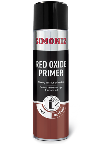 Simoniz Red Oxide Primer Acrylic Spray Paint 500ml SIMP13D
