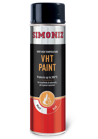 Simoniz Very High Temperature Matt Red VHT Spray Paint 500ml SIMVHT23D