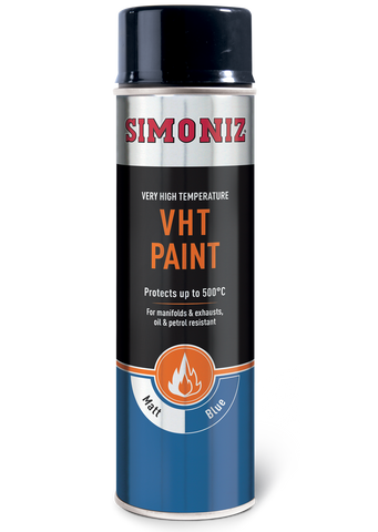 Simoniz Very High Temperature Matt Blue VHT Spray Paint 500ml SIMVHT24D