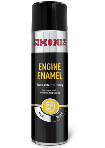 Simoniz Engine Enamel Gloss Black Acrylic Spray Paint 500ml SIMVHT32D