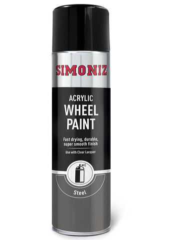 Simoniz Wheel Steel Acrylic Spray Paint 500ml SIMW51D