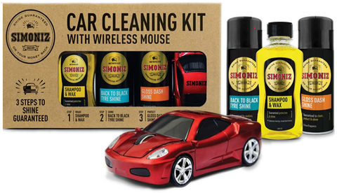 Simoniz Car Valeting Gift Pack + Wireless Supercar Mouse SAPP0142A