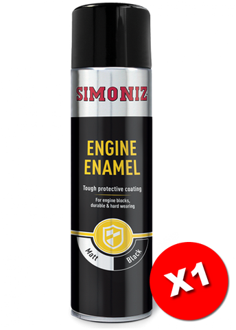 Simoniz Engine Enamel Matt Black Acrylic Spray Paint 500ml SIMVHT30D