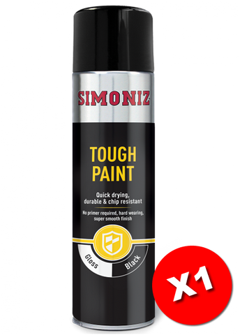 Simoniz Tough Gloss Black Spray Paint 500ml SIMVHT52D