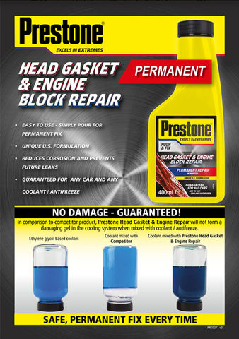 Prestone Head Gasket & Engine Block Repair - Save and Drive Automotive Car  Accesories | Roof Box & Roof Bar Hire