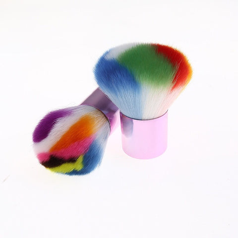 Rainbow Kabuki Make Up Brush