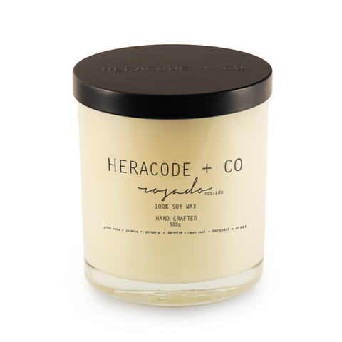 Heracode + Co Soy Candle Rosado 500 ml