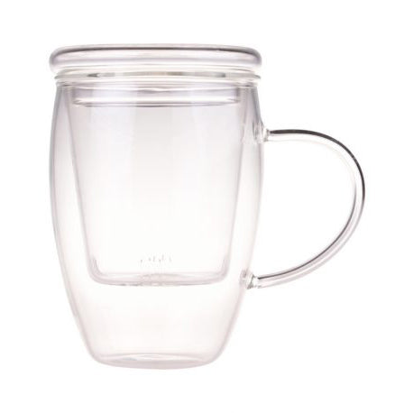 Glass Mug & Infuser 500ml - Melez Tea
