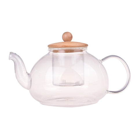 Bamboo Glass Teapot 600ml