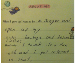 Shireen's aspirations circa 1995