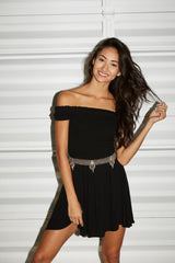 flynn skye dylan dress in black