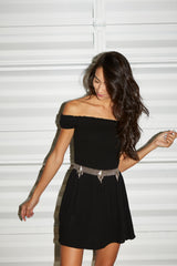flynn skye dylan dress + luv aj belt