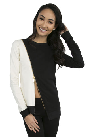 Asymmetric Zipper Sweater