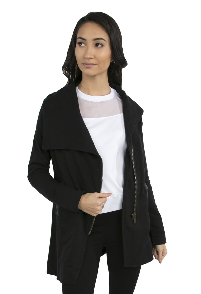 Leather Elbow Patch Jacket