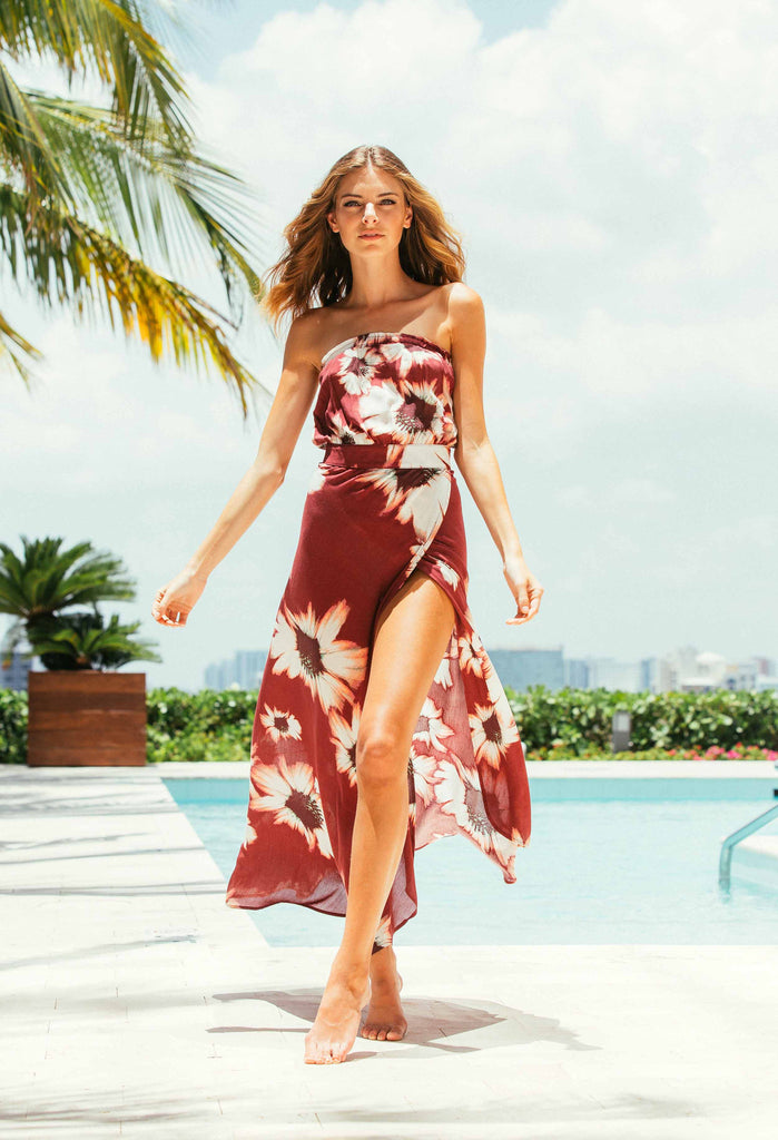 b2f3e721805 Home   Dresses   Flynn Skye Bella Maxi in Ruby Bloom Print. Sleeveless Bella  Maxi ...