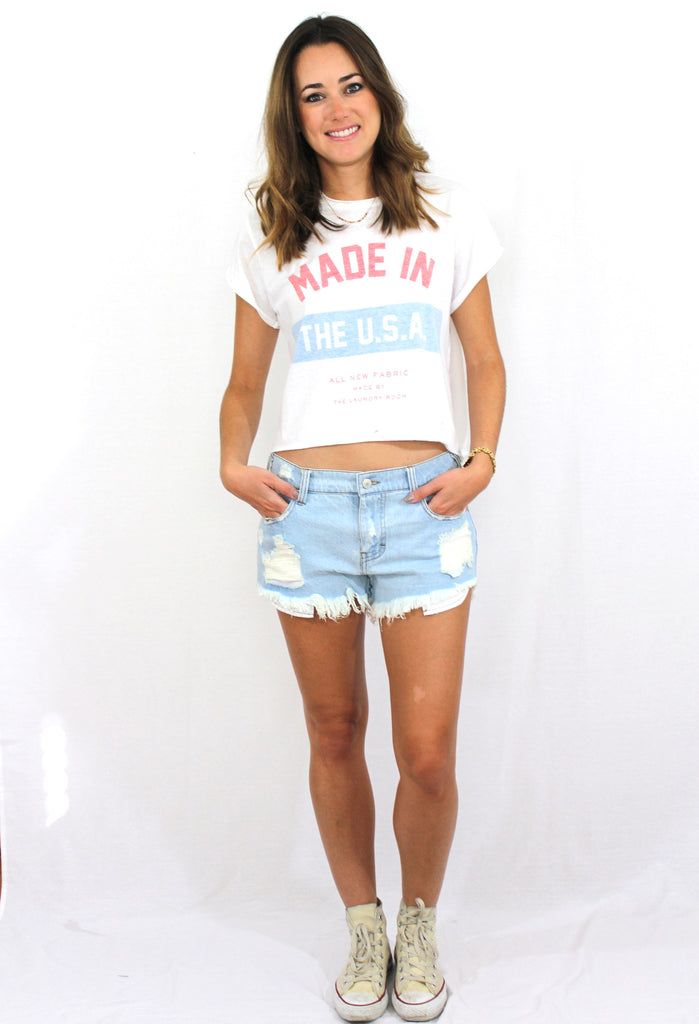 Made in the USA Crop Tee