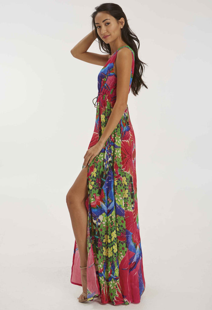 Floral Fuschia Dress