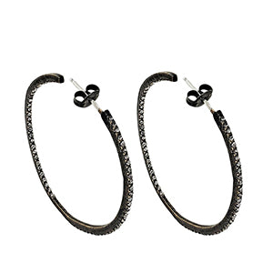 5c927547e Hoop Earrings in Silver, Gold, Gemstones and Crystals – Sheva Jewelry