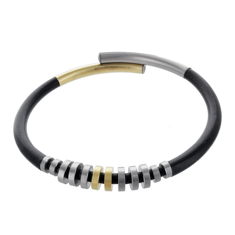 Unique Gold Silver Elements Bracelet