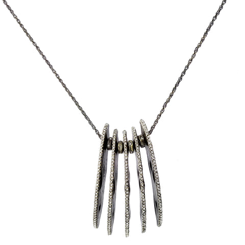 Rebel Designs Long Five Half Moons Necklace