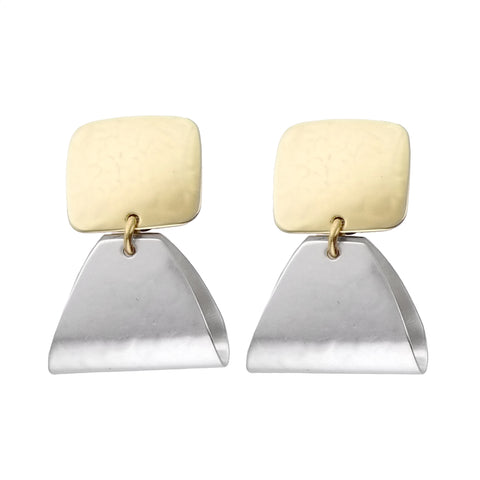 Marjorie Baer Folded Triangle Clip Earrings