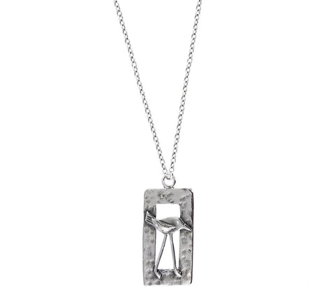 Bird In Window Necklace