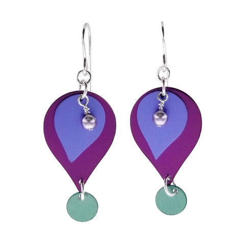 Lenel Designs Veronica Layered Droplet Earrings