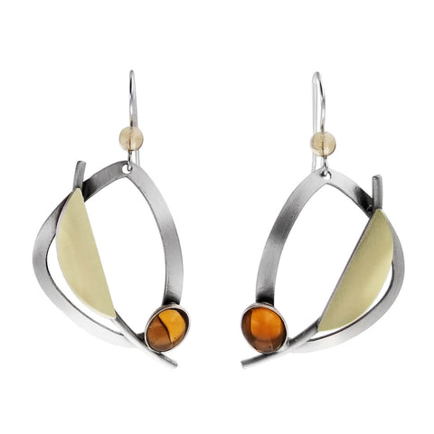 Christophe Poly Abstract Soft Triangle Maple Earrings
