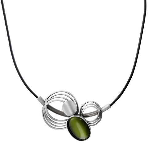 Christophe Poly Green Orbit Necklace