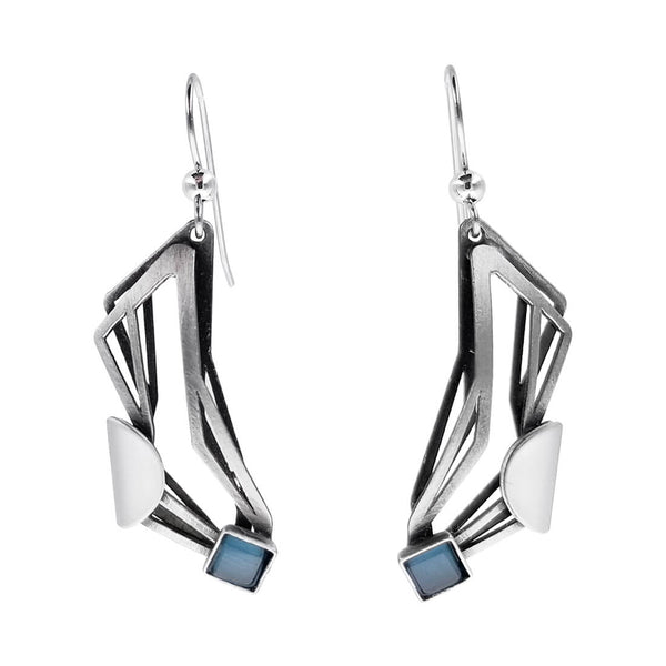 Christophe Poly Dynamic Mixed Metal Rectangles Earrings