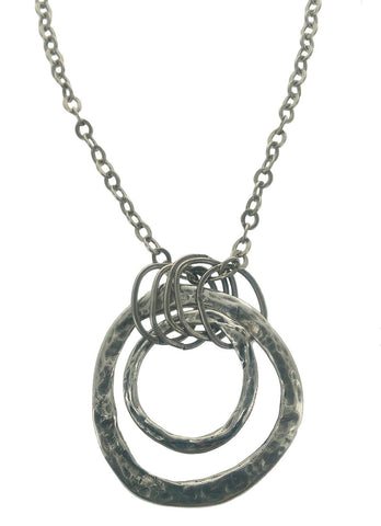 Anava Israeli Textured Multi Hoops Necklace