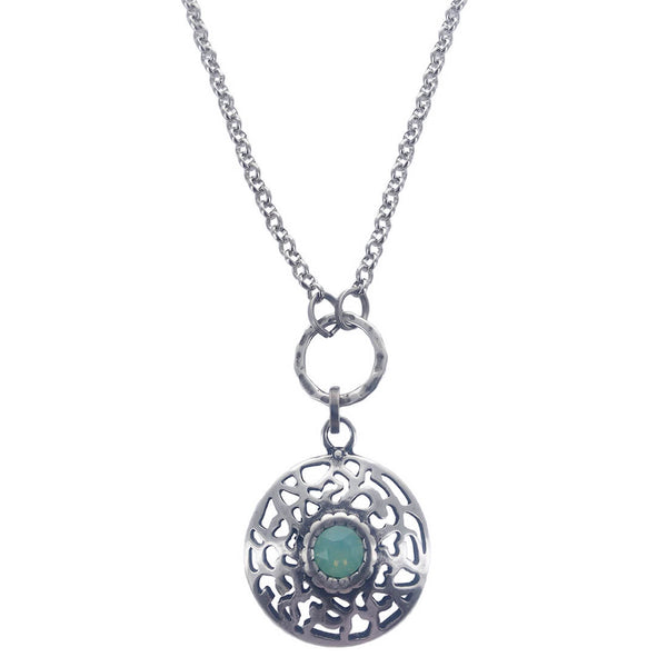 Anava Israeli Open Filigree Chalcedony Necklace
