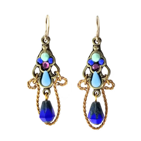 Ann Egan Blue Lapis Rope Twist Earrings