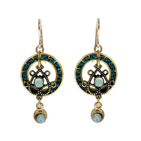 Ann Egan Flower Circle Gemstone Earrings