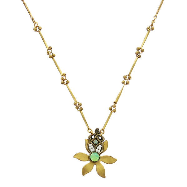 Ann Egan Opalite Pacifica Flower Necklace