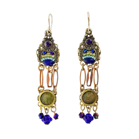 Ann Egan Triple Tier Agate Earrings