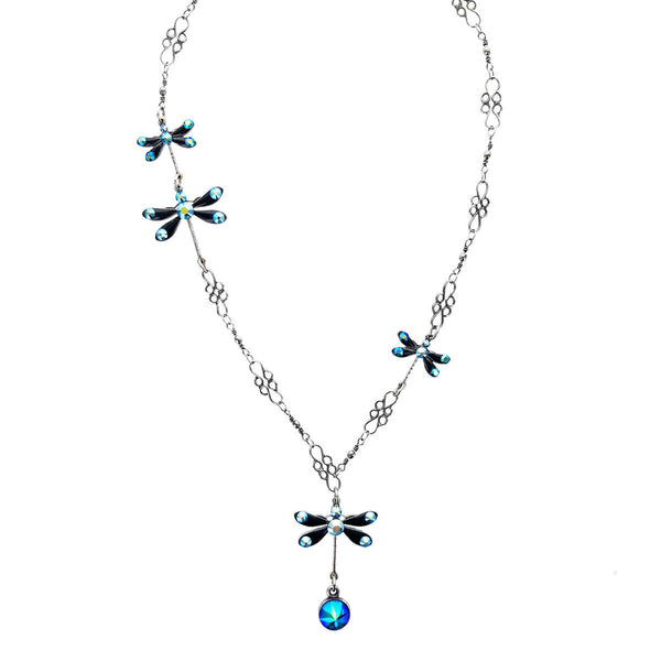Anne Koplik Blue Dragonflies Necklace