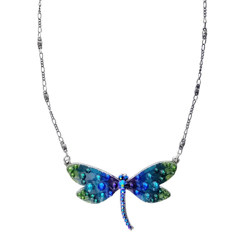 Anne Koplik Colorful Dragonfly Necklace