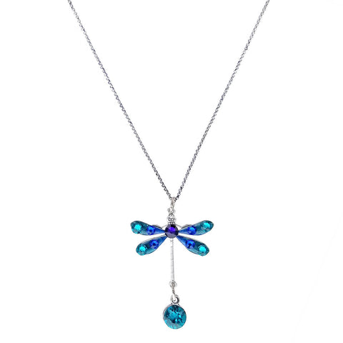 Anne Koplik Blue Dragonfly Necklace