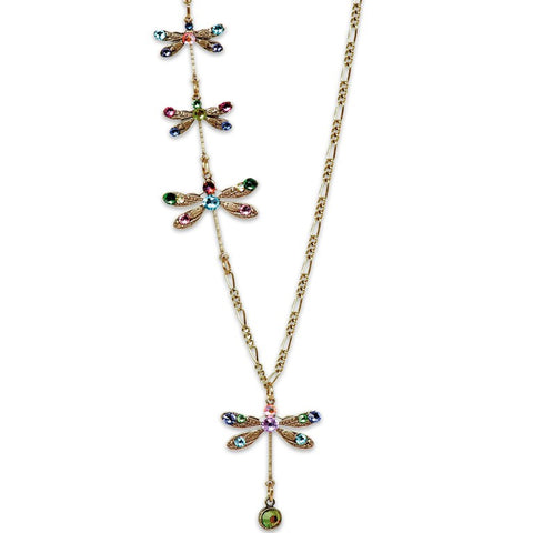 Anne Koplik Four Dragonflies Necklace In Multicolor