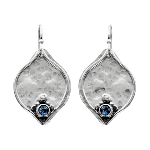 Austin Titus London Blue Topaz Plum Earrings