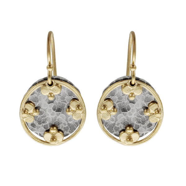 Austin Titus Silver Gold Four Blossom Earrings